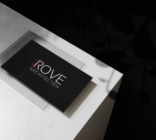 Naamkaartje ontwerpen Rove architecten