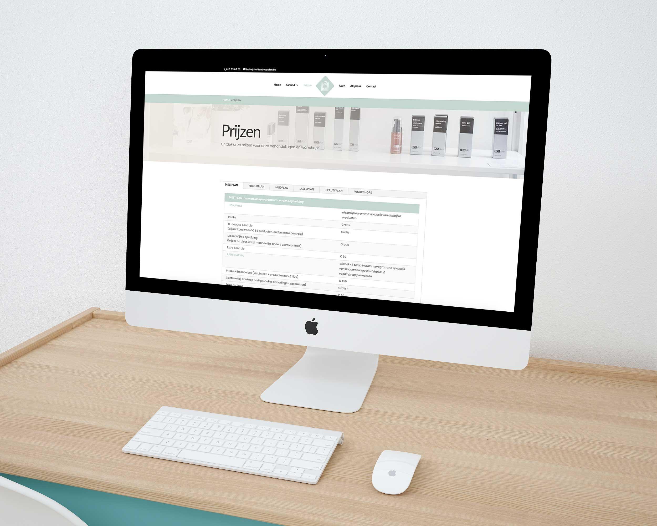 Website maken Huid-en-bodyplan Mechelen
