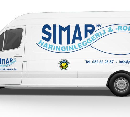 Autobestickering Mechelen Simar
