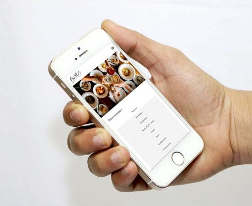 Mobiele website Gusto