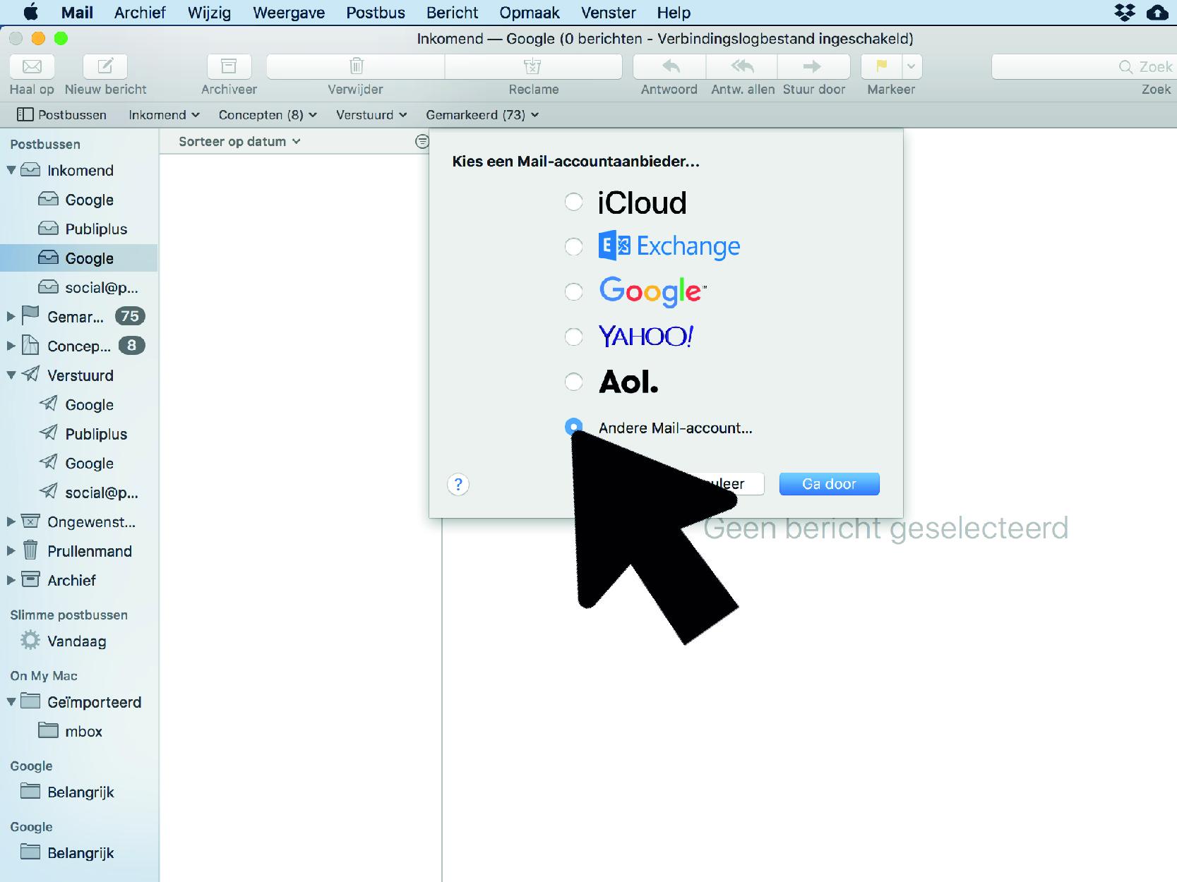 Hoe Mail instellen Mac