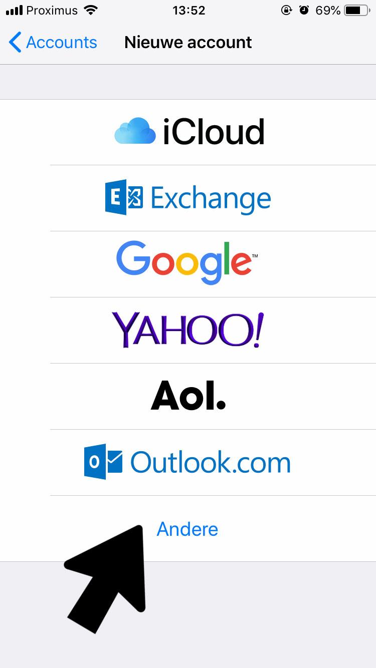 Iphone-email-instellen